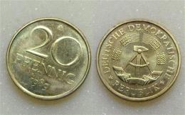 DDR 20 Pfennig 1989 - [ 6] 1949-1990 : GDR - German Dem. Rep.