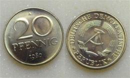 DDR 20 Pfennig 1980 - [ 6] 1949-1990 : GDR - German Dem. Rep.