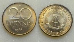 DDR 20 Pfennig 1986 - [ 6] 1949-1990 : GDR - German Dem. Rep.