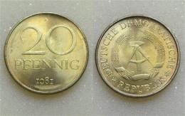 DDR 20 Pfennig 1981 - [ 6] 1949-1990 : GDR - German Dem. Rep.