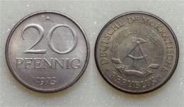 DDR 20 Pfennig 1973 - [ 6] 1949-1990 : GDR - German Dem. Rep.