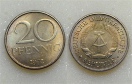 DDR 20 Pfennig 1971 - [ 6] 1949-1990 : RDA - Rép. Démo. Allemande