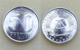 DDR 50 Pfennig 1971 - [ 6] 1949-1990 : GDR - German Dem. Rep.