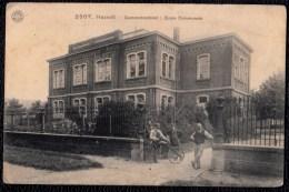CPA *** HASSELT - Gemeenteschool - Ecole Communale - Carte Animée - Vélo - G.Hermans 2807 - Hasselt