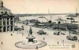 20 - BORDEAUX - La Rade Et La Fontaine Des 3 Grâces (date 1922) - Bordeaux