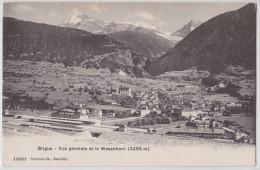 BRIGUE (Valais) - Vue Générale Et Le Wasenhorn - Gare - Voie Ferrée - Bahnhof - VS Valais