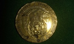 1864, Koninklijke Akademie Van Beeldende Kunsten Te Antwerpen, 200-jarig Jubileum, 16 Gram (med319) - Pièces écrasées (Elongated Coins)