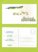 Cartes Parfumées Carte  JARDIN  De HERMES ATTENTION CARTES TACHÉES AURÉOLE PARFUM - Perfume Cards