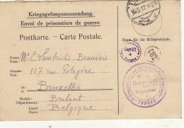 Prisonnier De Guerre Lambrichs Julia Famille Beauvois Lehardy Torgau 1917 - Guerra 14 – 18