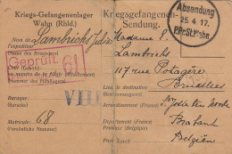 Prisonnier De Guerre Lambrichs Julia Famille Beauvois Lehardy Wahn 1917
