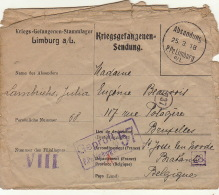 Prisonnier De Guerre Lambrichs Julia Famille Beauvois Lehardy Lmburg A/l 1918 - Guerre 14-18