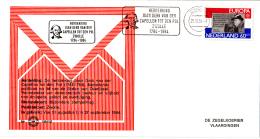 Nederland - Zegelkoerier Nederlandse Poststempels - Herdenking Joan Derk Van Der Capellen Tot Den Pol - Nr. 1984/35 - Marcofilie - EMA (Print Machine)