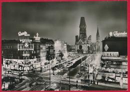 Foto-AK BERLIN Bei Nacht (gute Briefmarke !) ~ 1955 - Mitte