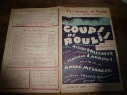 1928 Chanson De Marin C'EST CHARMANT,TRES PARISIEN Opérette COUPS DE ROULIS..pour égayer La Cabine D'un Officier De Ma - Partitions Musicales Anciennes