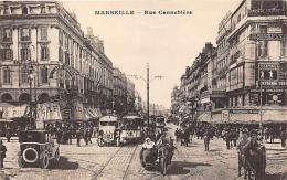 BOUCHES DU RHONE  13  MARSEILLE   RUE CANEBIERE  MOTO SIDE CAR - Canebière, Centre Ville