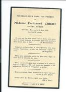 IMAGE PIEUSE..AVIS De DECES MEMENTO.. Mme Ferdinand GIBERT, Née MALHERBE, Décédée à BAYEUX (14) En 1933 à 80 Ans - Images Religieuses