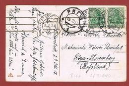 Letland Russische Bezetting Aankomsstempel Riga 18/10/1912 Op Duitse Postkaart - Latvia