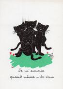 Illustration Chat Noir Signé Biz JE M'ENNUIE QUAND MÊME....DE VOUS   N°76 - Cats