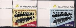 2006 Albanien  Mi. 3194-5** MNH   60. Jahrestag Des Sieges Bei Der Fußball-Balkanmeisterschaft - Albanien