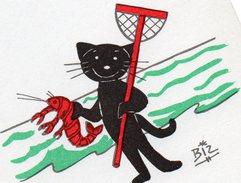 Illustration Chat Noir Signé Biz J'EN PINCE POUR VOUS...   N°77 - Cats