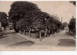 Cpa.91.corbeil.La Rue Du Général Lucotte Et L'Avenue Darblay. - Corbeil Essonnes