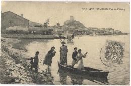 10/11 - Repro CPA GRUISSAN En 1900 Vue De L'Etang Très Animée - France