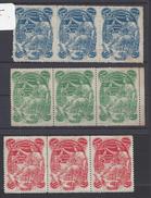 FR - Petit Lot De 9 Vignettes En Bande De Trois - Exposition Internationale De St Etienne Avril-Septembre 1904 - B/TB - - Exposiciones Filatelicas