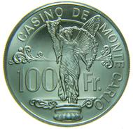 [NC] MONACO MONTE CARLO 100 FRANCS JETON TOKEN GETTONE ARGENTO SILVER - Casino