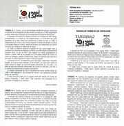 TOURISME ESPAGNE - SOLEIL - I NEED SPAIN -  VALISE ET BATEAU - DOCUMENT INSTRUCTIF DE L´ÉMISSION DE TIMBRE ESPAGNE - España
