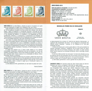 SÉRIE DE BASE - LE ROI DON JUAN CARLOS I - DOCUMENT INSTRUCTIF DE L´ÉMISSION DE TIMBRE ESPAGNE - España