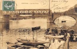 CPA 95  PONTOISE LES DEUX PONTS 1909 - Pontoise