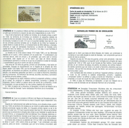 MILLENNIUM ROYAUME DE GRENADE  - DOCUMENT INSTRUCTIF DE L´ÉMISSION DE TIMBRE ESPAGNE - España