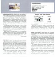 PONT DE BESALÚ DANS GERONE - DOCUMENT INSTRUCTIF DE L´ÉMISSION DE TIMBRE ESPAGNE - España