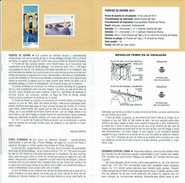 PONT DES PIEDRA LOGROÑO ET TAJO DE RONDA MALAGA - DOCUMENT INSTRUCTIF DE L´ÉMISSION DE TIMBRE ESPAGNE - Sin Clasificación