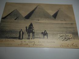 B664  Egitto Le 3 Piramidi Presenza Di ABRASIONE/SCREPOLATURA Al Retro Come Da Foto Cm8,5x14 - Sin Clasificación