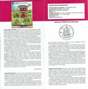 VALEURS CIVIQUES -  SCOLAIRE  - DOCUMENT INSTRUCTIF DE L´ÉMISSION DE TIMBRE ESPAGNE - España