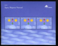 Portugal MADEIRA Madère Europa CEPT 2001 Eau Water Bloc S/s ** - Ungebraucht