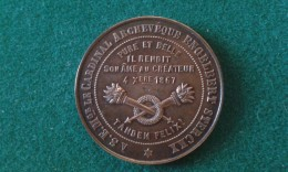 1867, Ville De Malines, Deuil Publique, Cardinal Archeveque Engelbert Sterckx, 12 Gram (med337) - Pièces écrasées (Elongated Coins)