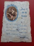 "FANTAISIES - Jeune Femme  En Médaillon  - "" Aan U Die Ik Bemin ""      - (2 Scans) - Femmes"