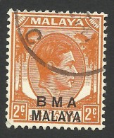 Malaya, BMA, Straits Settlements 2 C. 1945, Sc # 257, Mi # 2II, Used - Malaya (British Military Administration)