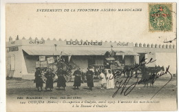 Oudjda Maroc Avril 1917 Douane Customs Type Blanc Edit Boumendil Sidi Bel Abbès Leger Pli - Aduana