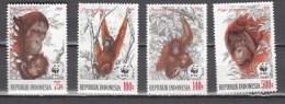 Indonesia 1989,4V,set,WWF,monkey,aap,affe,singe,mono,scimmia,MNH/Postfris(A2978) - Apen