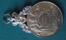 1920, Landbouwcomice Van Meysse, 46 Gram (med342) - Pièces écrasées (Elongated Coins)