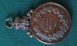1896, Concours D'Etalages Hasselt, 56 Gram (med343) - Elongated Coins