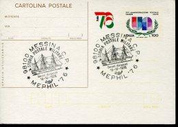 15118 Italia, Special Postmark Messina 1976,  Sailing Ship,  Voilier,  Segelschif - Schiffahrt