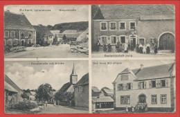 67 - BURBACH - 4 Vues - Hauptstrasse - Schulhaus - Gastwirstschaft Jung - Feldpost - Voir état - France
