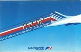 Aviation / Avion : Memo Concorde, Air France ( Livret ) - Publicités