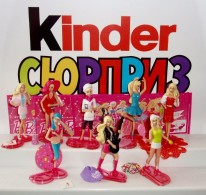 Kinder Surprise Eggs Barbie I Can Be Professions Ballerinas Small Dolls Toys From Egg Mini Figures Collection Toys - Diddl