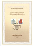 ALLEMAGNE  Carte  Notice 1er Jour  1990 Chateaux De Rastatt  Rocher Falaises Heligoland - Castles