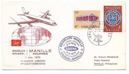 Bruxelles - Manilla  8.11.1970 - 1936-51 Poortman